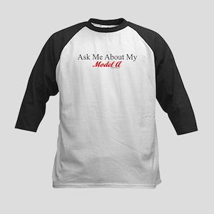 """Ask About My Model A"" Kids Baseball Jersey"