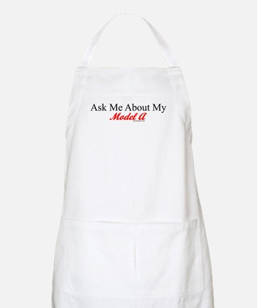 """Ask About My Model A"" BBQ Apron"