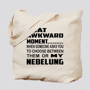 That awkward moment..... Nebelung cat Tote Bag