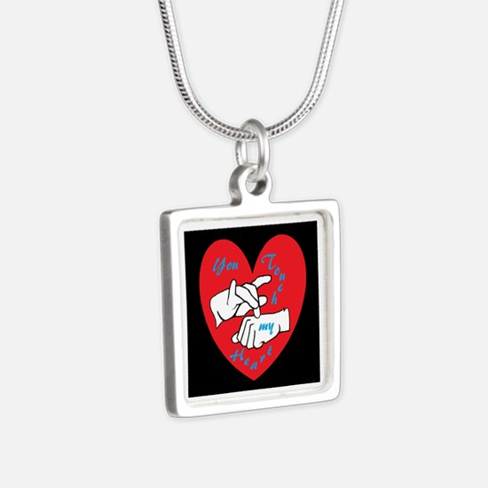 ASL You Touch My Heart Necklaces