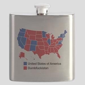 Map of Dumbfuckistan Flask