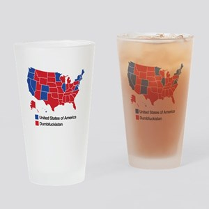 Map of Dumbfuckistan Drinking Glass