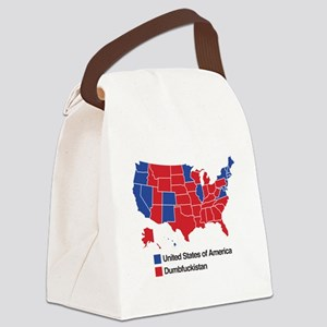 Map of Dumbfuckistan Canvas Lunch Bag