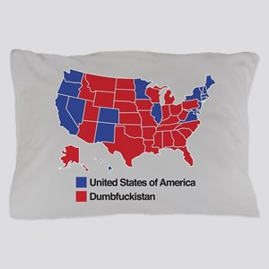 Map of Dumbfuckistan Pillow Case