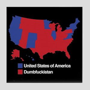 Dumbfuckistan Tile Coaster