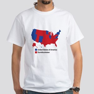 Dumbfuckistan White T-Shirt