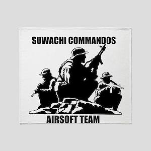 Suwachi Commandos Airsoft Team Throw Blanket