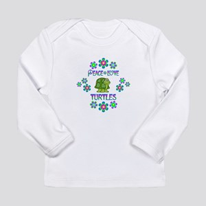 Peace Love Turtles Long Sleeve Infant T-Shirt