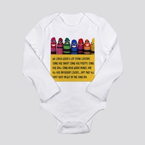 Peaceful Crayons Body Suit