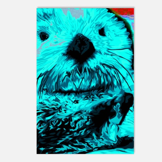 Cool Sea otter Postcards (Package of 8)