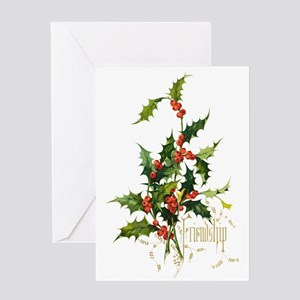 Holly, Friendship Greeting Cards