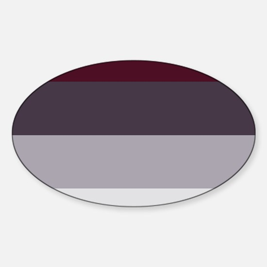 Plum Burgundy Grey Stripes Decal