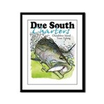 Top Water Trout Framed Panel Print