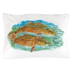 Red Fish Pillow Case