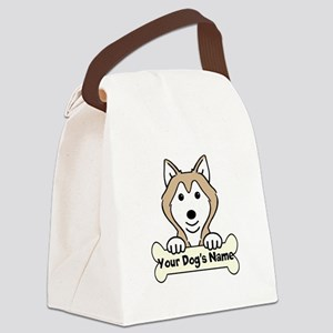 Personalized Alaskan Malamute Canvas Lunch Bag