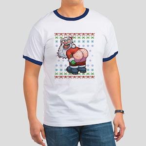 Ugly Santa Moon Ringer T