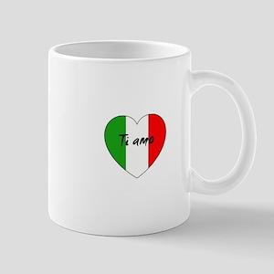 Italian Flag Ti Amo Mugs