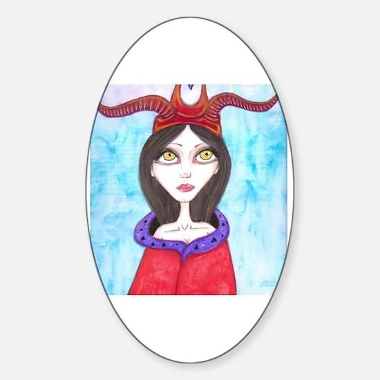Big eye girl Sticker (Oval)