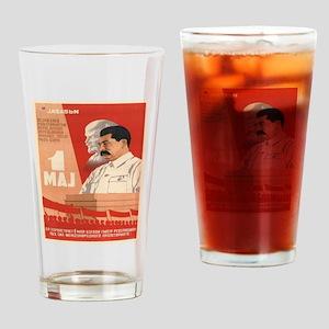 Vintage poster - Josef Stalin Drinking Glass
