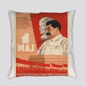 Vintage poster - Josef Stalin Everyday Pillow