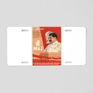 Vintage poster - Josef Stal Aluminum License Plate