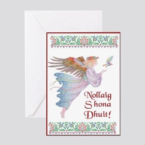 Angel With Dove Christmas Cards (10) Greeting Card