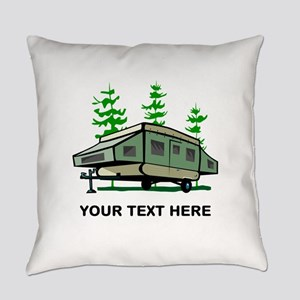 Camping Popup Trailer Home Everyday Pillow