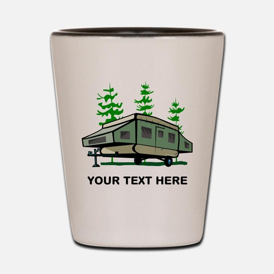 Camping Popup Trailer Home Shot Glass