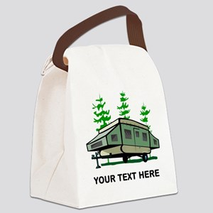 Camping Popup Trailer Home Canvas Lunch Bag