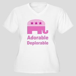 Adorable Deplorab Women's Plus Size V-Neck T-Shirt
