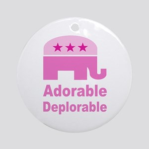 Adorable Deplorable Round Ornament