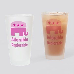 Adorable Deplorable Drinking Glass