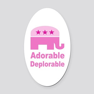 Adorable Deplorable Oval Car Magnet