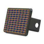 African Jewelfish Pattern on Blue Hitch Cover