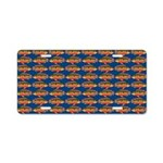 African Jewelfish Pattern on Blue Aluminum License