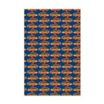 African Jewelfish Pattern on Blue Posters