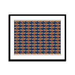 African Jewelfish Pattern on Blue Framed Panel Pri