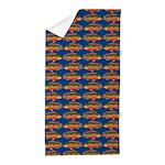 African Jewelfish Pattern on Blue Beach Towel