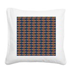African Jewelfish Pattern on Blue Square Canvas Pi