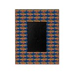African Jewelfish Pattern on Blue Picture Frame