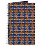 African Jewelfish Pattern on Blue Journal