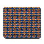 African Jewelfish Pattern on Blue Mousepad