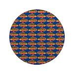 African Jewelfish Pattern on Blue 3.5