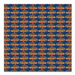 African Jewelfish Pattern on Blue Square Car Magne