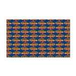 African Jewelfish Pattern on Blue Rectangle Car Ma
