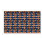 African Jewelfish Pattern on Blue Car Magnet 20 x