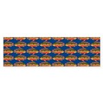 African Jewelfish Pattern on Blue Bumper Sticker