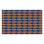 African Jewelfish Pattern on Blue Sticker