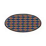 African Jewelfish Pattern on Blue Patch