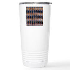 African Jewelfish Pattern on Blue Travel Mug